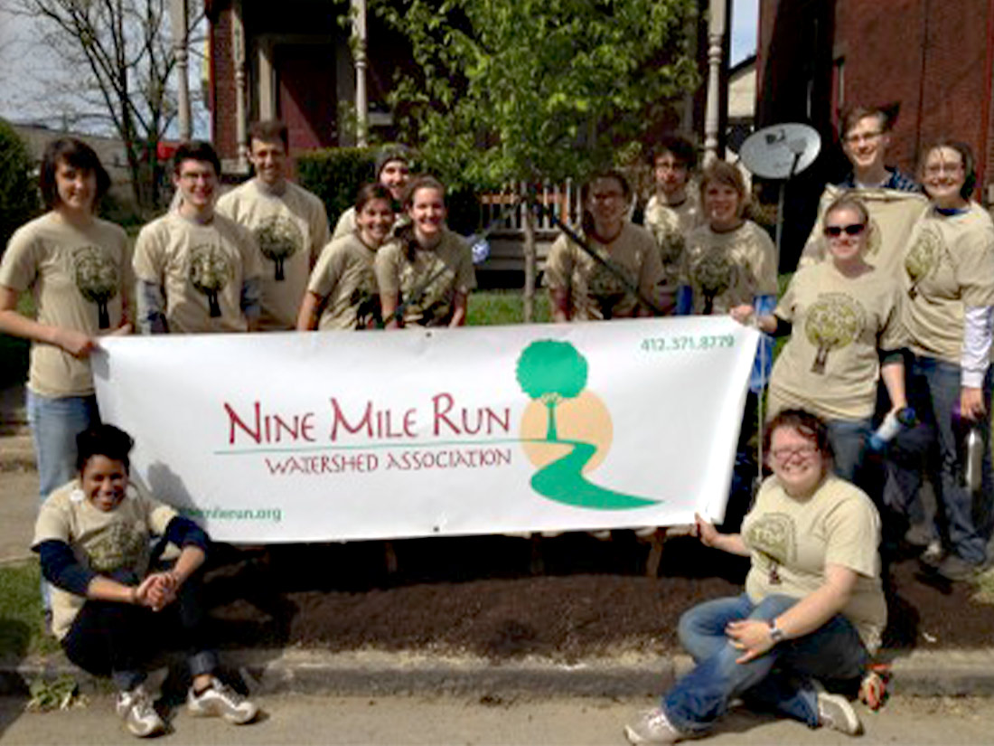 Group planting trees Pittsburgh PA