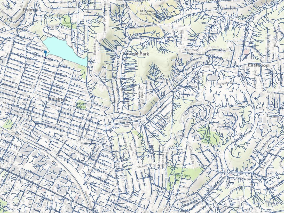 Hydrology Map of Pittsburgh PA