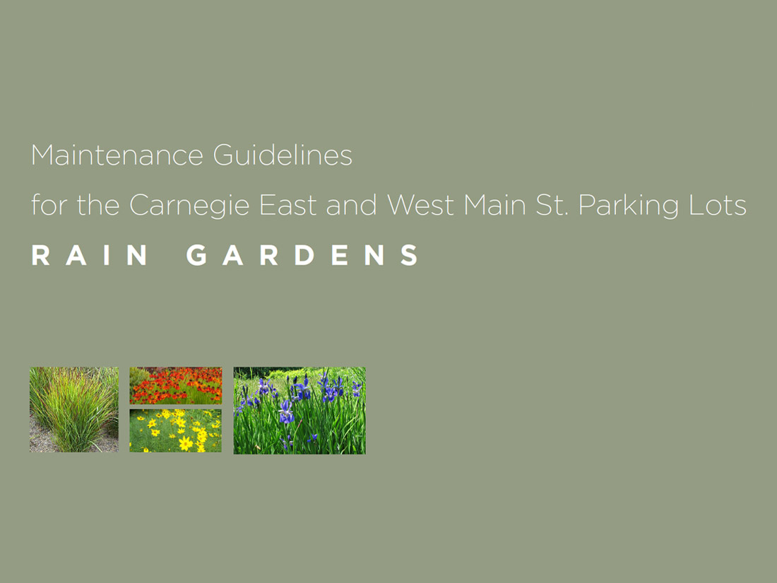 Maintenance Guidelines for the Carnegie East and West Main St. Parking Lots