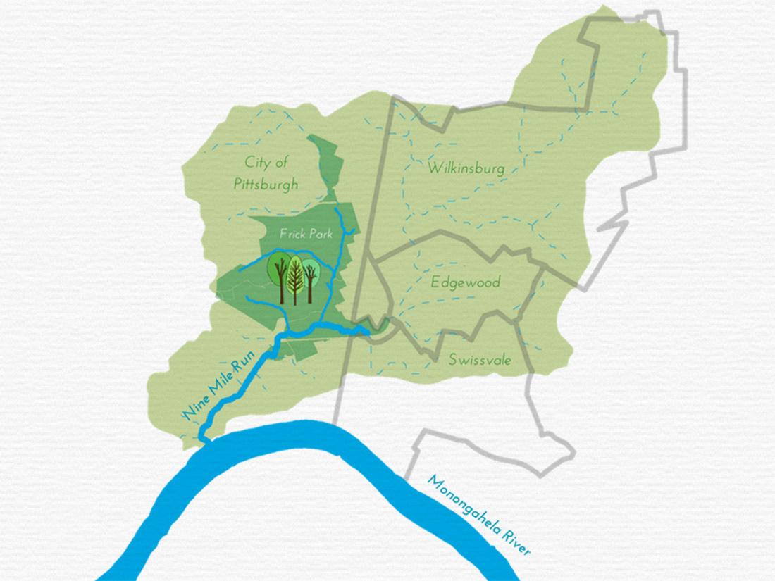 Nine Mile Run Municipalities Pittsburgh PA