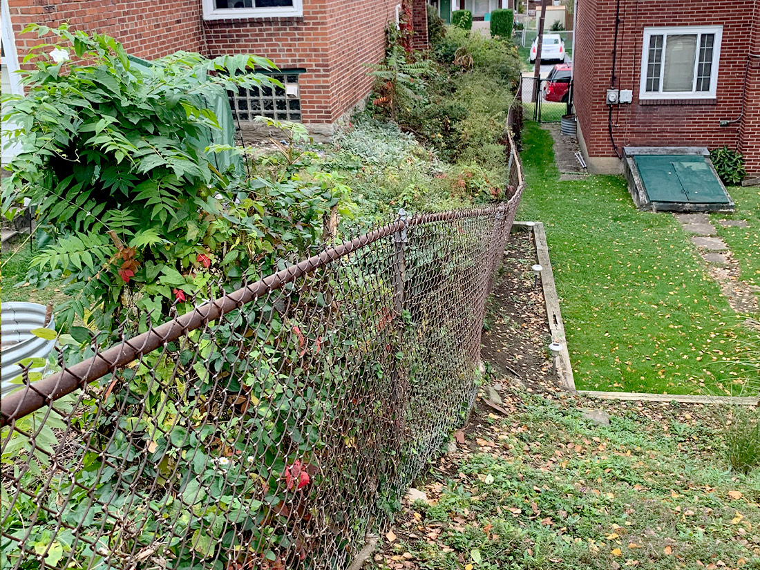 Hillside with stormwater problems Pittsburgh PA