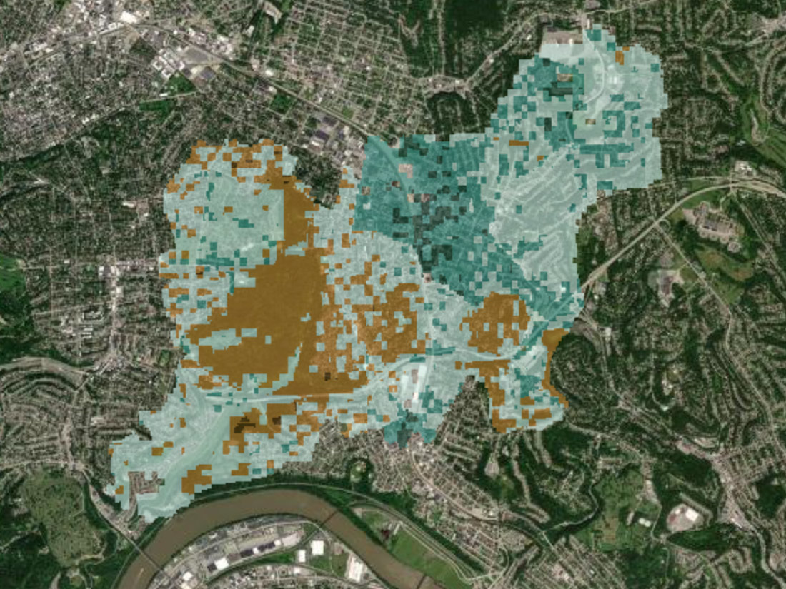 Urban Forestry Equity map