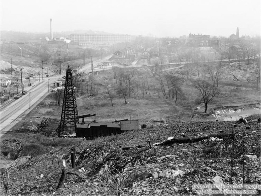 Early picture of Nine Mile Run