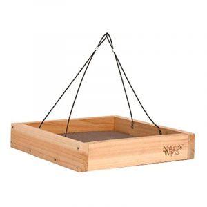 cedar platform bird feeder