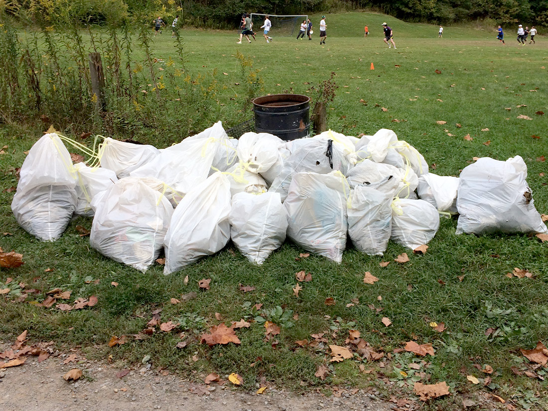 Garbage collected from Stream Sweep of Nine Mile Run Pittsburgh PA